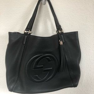 Authentic Gucci Soho Leather Tote 👜